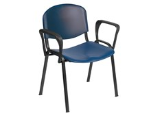 Venus Visitor chair in Blue with Arms