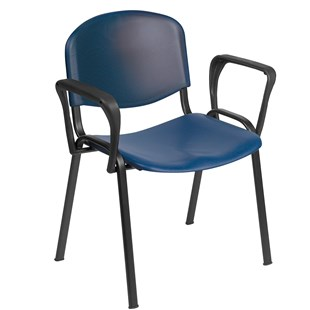 Venus Visitor chair in Blue with Arms - HQS025